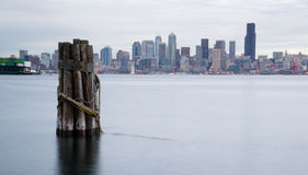 Waterfront Piers Dock Buildings Boats Seattle Royalty Free Stock Image
