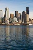 Waterfront Piers Dock Buildings Ferris Wheel Boats Seattle Stock Images