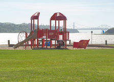 Waterfront playground Stock Photography