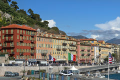 Waterfront in the port de Nice Stock Photo