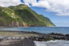 The waterfront of Povoacao in Sao Miguel Stock Image