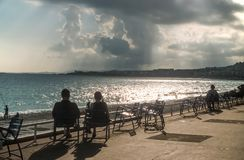 Waterfront Promenade des Anglais στη Νίκαια Στοκ Εικόνα