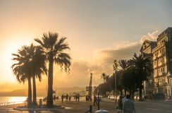 Waterfront Promenade des Anglais in Nice Royalty Free Stock Image