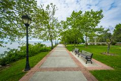 The waterfront promenade in Havre de Grace, Maryland stock images