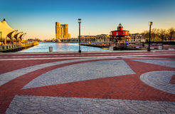 The Waterfront Promenade at the Inner Harbor in Baltimore, Maryl Royalty Free Stock Images