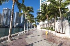 Waterfront promenade in Miami Stock Photos