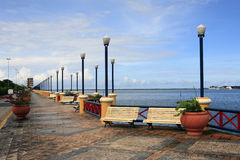 Waterfront promenade recife Stock Images