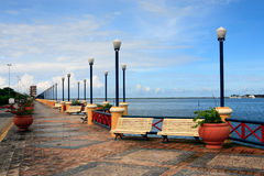 Waterfront promenade recife Royalty Free Stock Photo
