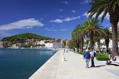 Waterfront Promenade in Split Royalty Free Stock Photography