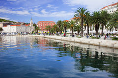 Waterfront Promenade in Split Royalty Free Stock Image