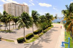 Waterfront properties & yachts in Florida Stock Photography