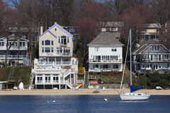 Waterfront Property Royalty Free Stock Photo