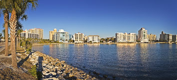 Waterfront Property, Gulf Coast Stock Image
