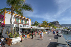 Waterfront in Puerto de Mogan, Gran Canaria, Spain Stock Images