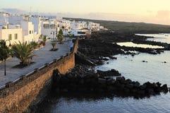 Punta Mujeres village, Lanzarote Island, Canary Islands, Spain. Waterfront of  Punta Mujeres village, Lanzarote Island, Canary Islands, Spain Stock Photo
