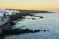 Morning at Punta Mujeres village, Lanzarote Island, Canary Islan Stock Image