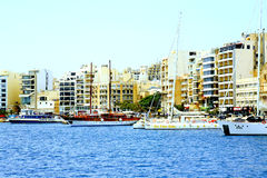 Waterfront and quayside, Sliema, Malta. Stock Images