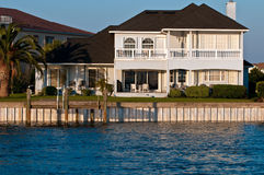 Waterfront Real Estate Royalty Free Stock Images
