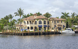 Waterfront real estate. In Fort Lauderdale, Florida Stock Photo