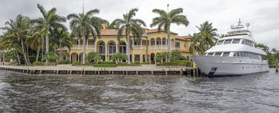 Waterfront real estate. In Fort Lauderdale, Florida Royalty Free Stock Photography