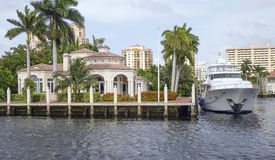 Waterfront real estate Royalty Free Stock Image