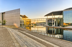 Waterfront on the Reichstag backyard, Berlin, Germany Stock Images
