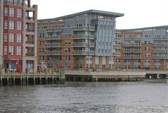 Waterfront residence Stock Photos