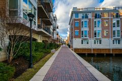 Waterfront residences at the Inner Harbor, in Baltimore, Maryland.  stock images