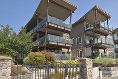 Waterfront Residential Condominiums Vancouver WA. Royalty Free Stock Photos