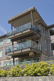 Waterfront residential condominiums Vancouver WA. Royalty Free Stock Image