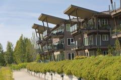 Waterfront residential condominiums Vancouver WA. Waterfront modern residential condominiums Vancouver WA Stock Photos