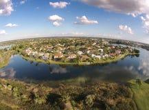 Waterfront residential neighborhood Royalty Free Stock Photo