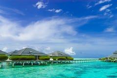 Waterfront resort Maldives Stock Photos