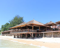 Waterfront Restaurant. A waterfront restaurant in Gili Meno Royalty Free Stock Image