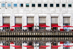 Waterfront Restaurant in Canary Wharf, London Royalty Free Stock Photography