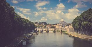 Waterfront in Rome, Italy Royalty Free Stock Photography