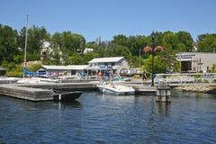 Waterfront, Rosseau, Muskoka, Ontario, Canada, Stock Photography