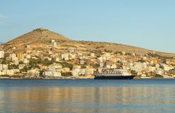 Waterfront of Sarande Royalty Free Stock Image