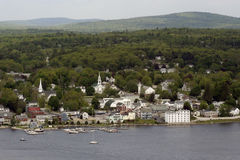 Free Waterfront Scenery In Bucksport Maine Royalty Free Stock Photos - 18724358
