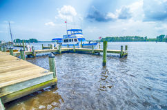 Waterfront scenes in washington north carolina Royalty Free Stock Photography