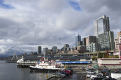 Waterfront Seattle downtown Royalty Free Stock Images