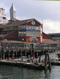 Waterfront, Seattle, Wasington. The waterfront in Seattle downtown is a big draw for tourists offering both shopping and fine dining near Puget Sound Stock Image