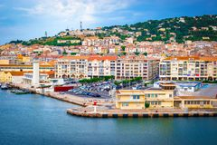 Waterfront of Sete, South France Royalty Free Stock Images