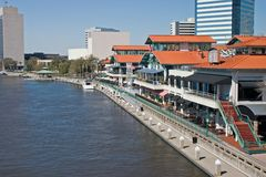 Waterfront shopping and dining complex. Riverfront area of Jacksonville, Florida with assorted dining and shopping opportunities Stock Photography