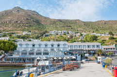 Waterfront at Simons Town harbor royalty free stock image