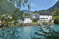 Waterfront Skjolden Royalty Free Stock Photography