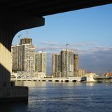Waterfront skyline Royalty Free Stock Images