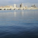 Waterfront skyline. With bridge in Miami, Florida, USA Stock Photo