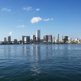 Waterfront skyline of Miami Royalty Free Stock Image