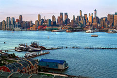 Waterfront and Skyline Royalty Free Stock Image